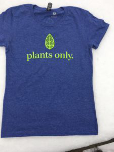 Plants Only T-shirt blue